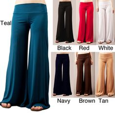 @Overstock.com.com - These versatile pants from Tabeez features soft jersey construction and a flattering wide waistband.