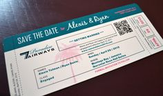 Destination Wedding Save the Date Invitation by imaginationpad, $112.00