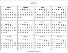 calendar 2016 romana - Căutare Google