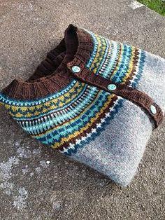 Ravelry: Damejakka Loppa / Flea – A Lady's Cardigan pattern by Pinneguri Fair Isle Knitting Patterns, Knitting Stitches, Knitting Designs, Knitting Projects, Baby Knitting, Yarn Needle, Needle And Thread, Punto Fair Isle, Diy Fashion Hacks