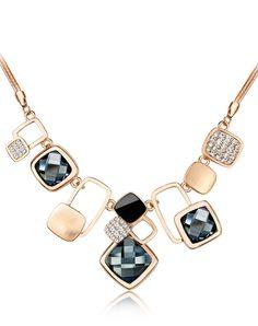 #AdoreWe #VIPme (VIPSHOP Global) CAROMAY Elegant Crystal Statement Necklace Fashion Vintage - AdoreWe.com