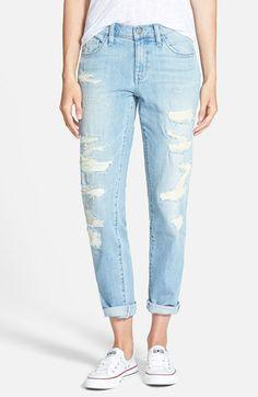 Treasure&Bond Destroyed Boyfriend Jeans (Blue Light Rip N Repair) available at #Nordstrom-$110.00
