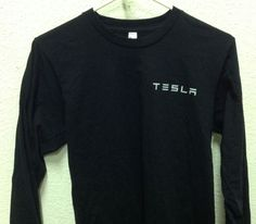 New Tesla Motors Electric Model s Roadster Car T Shirt Size Small Black 2 Sided | eBay  ✔Garment is in the closet