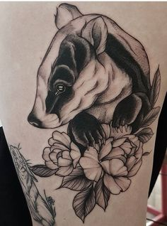 Aimee Bray badger tattoo