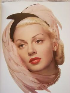 Lana Turner    A hat and pearls perfect accessories..    WhatnotGems.com