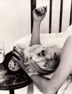 Barbara in Night Cap, Paris, 1956 by Williem Klein. S)