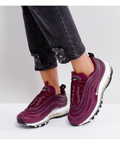 98bac906760 Nike Air Max 97 Premium Bordeaux Red Black Trainers Red Trainers