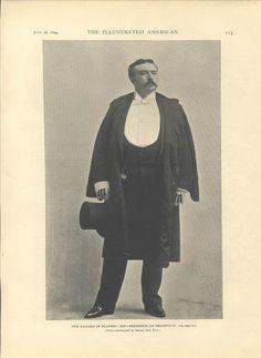 1894 Frederick de Belleville Broadway PORTRAIT Theatre NYC Illustrated American