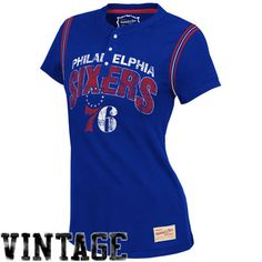 Mitchell & Ness Philadelphia 76ers Women's Rivalry T-Shirt - Royal Blue