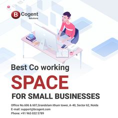 Best co-working space for small businesses..................................  #smallbusiness #coworking #officespace #coworkingspace #bcogent #ithumtower #coworkingnoida #coworkinglife