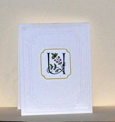 """The inside of the card reads """"are so loved"""" hence the name of the card """"U...are so loved."""" Very simple, very pretty."""