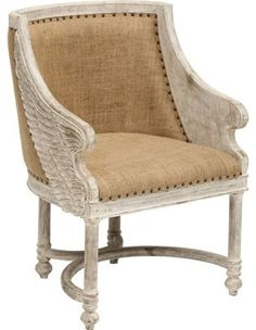 Angel Chair - $639.00 »    Wings are a unique element that brings this chair from ordinary to extraordinary. I would love to sit in this at a writing desk.