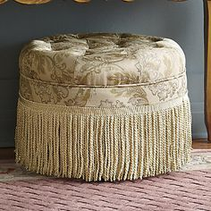 Fringed Ottoman from HomeVisions