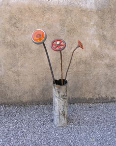 Recycled Metal Art Vase, Industrial Decor -. $40.00, via Etsy.