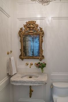 Discover how to choose, install, fix and remove bathroom plumbing by browsing these projects and videos. If i walked into this bathroom, Id treat badly I was dreaming. or on a movie set. Diy Bathroom, Bathroom Plumbing, Bathroom Interior, Small Bathroom, Master Bathroom, Gold Mirror Bathroom, Bathroom Ideas, Modern Bathroom, Upstairs Bathrooms