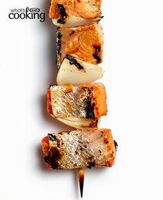 Orange-Ginger Salmon Kabobs #recipe