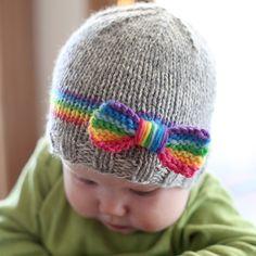 We Like Knitting: RainBOW Baby Hat Knitting Pattern