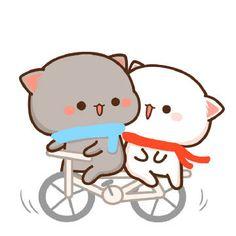Dealing With Cat Allergies Cute Cartoon Images, Cute Couple Cartoon, Cute Love Cartoons, Cute Cartoon Wallpapers, Cute Love Pictures, Cute Love Gif, Cute Kawaii Animals, Kawaii Cat, Chibi Cat