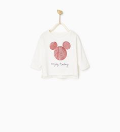 MICKEY SHINY TOP-T-SHIRTS-BABY GIRL | 3 months - 4 years-COLLECTION SS/17 | ZARA United States