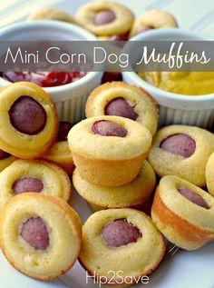 Super Bowl XLIX Tailgating Ideas - Mini Corn Dog Muffins #tailgating #superbowl #Dan330 http://livedan330.com/2015/01/30/super-bowl-xlix-tailgating-ideas/