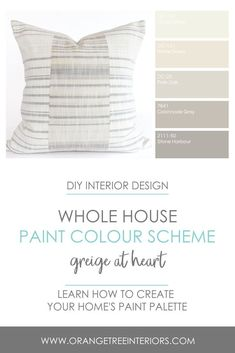 Do you want to learn how to put together a paint palette for your home? Check out my online course to gain the confidence you need to make your home look beautiful. Modern Minimalist Bedroom, Modern Contemporary Living Room, Transitional Living Rooms, Minimalist Interior, Transitional Style, Minimalist Decor, Midcentury Modern, Contemporary Style, Modern Paint Colors