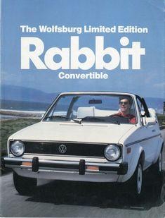 vw rabbit-my first car Vw Golf Cabrio, Volkswagen Golf Mk1, Volkswagen Rabbit, Golf 1 Cabriolet, Vw Mk1, Convertible, Surf, Car Advertising, Dream Cars