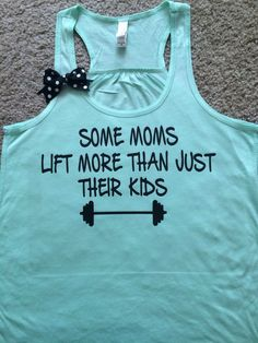 Some Moms Lift More Than Just Their Kids - Mint Tank - Ruffles with Love – #RuffleswithLove