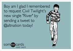Boy am I glad I remembered to request Civil Twilight's new single 'River' by sending a tweet to @altnation today!