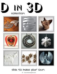 amazing 3D printed sculptures and jewelry #3D printer #sculpture