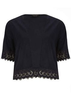 Dorothy Perkins- Navy crochet throw on jacket