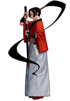 Yumeji Kurokouchi from Samurai Shodown V