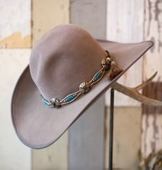 Carol Carr Taupe Hat from Melissa Benge Collection www.maverickstyle.net