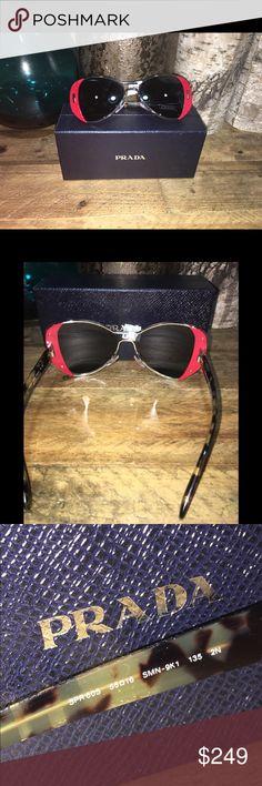cf43016cbb50 New Women Prada Sunglasses 100# Authentic guaranteed New with case and cloth  Display sunglasses so