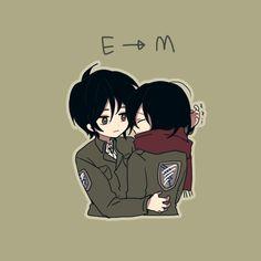 "Eremika 루이 on Twitter: ""안아주는 타래...… "" Attack On Titan Comic, Attack On Titan Ships, Attack On Titan Fanart, Eren X Mikasa, Mikasa Chibi, Armin, 5 Anime, Eremika, My Demons"