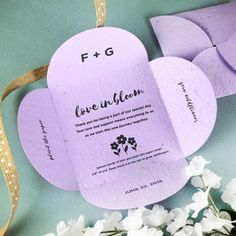 Love in Bloom Plantable Petal Card Wedding Favors