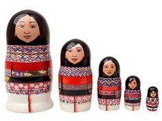 Inuit Eskimo Women Doll 5pc./5