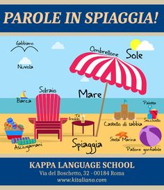 Learn Italian words you can use on the beach!