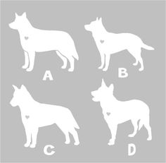 Australian Cattle Dog Silhouette Vinyl Sticker Car by blakdogs