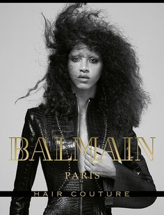 Noemie Lenoir for Balmain Hair Couture FW17 Campaign. Hair by Creative director, Nabil Harlow.