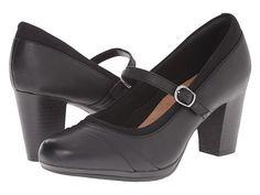 Clarks Brynn Ivy Black Leather - $77 Zappos.com Free Shipping BOTH Ways
