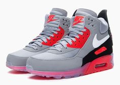 "Nike Air Max 90 Sneakerboot Ice ""Infrared"" 11.5"