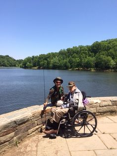 Out fishing with our residents