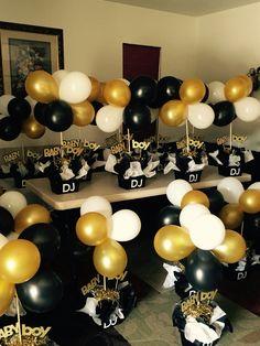 62 best gold black white party table decor images anniversary rh pinterest com