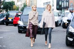 The Best of London Street Style - LFW Street Style Photos Spring 2015 - Elle too drab for my taste I really love Harajuku/Tokyo street fashion allot better because they are more out there than the people in the west. Asia is the one we all should look out for in the fashion world they have really cool sense of style very fresh...