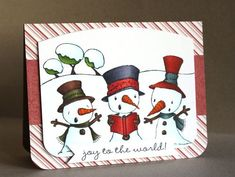 Snowman Card by Alice Wertz.  Stacey Yacula Studio stamps from Purple Onion Designs.