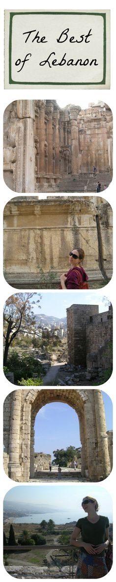 Pictures from my trip to Lebanon in 2010 -- Baalbek, Byblos, and Tyre (Beirut is not pictured). Incredible country and a great time spent with two very special friends of mine.