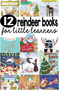 Our 12 favorite reindeer books are perfect for your Christmas holiday lesson plans. These are great for preschool, kindergarten, or first grade students. (Christmas Activities First Grade) Preschool Books, Kindergarten Activities, Preschool Themes, Kindergarten Literacy, Language Activities, Kindergarten Reading, Kids Reading, Reading Lists, Christmas Books