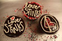 anti-valentine's cupcakes