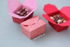 Miniature Food - Pralines and Chocolate Box / Ballotin de Chocolat by PetitPlat - Stephanie Kilgast, via Flickr