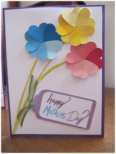 45 DIY Mother's Day Cards to show your LOVE! - Pink Lover Mother's Day Cards . 45 DIY Mother's Day Cards to show your LOVE! - Pink Lover Mother's Day Cards for Teens These samples would require olde Kids Crafts, Mothers Day Crafts For Kids, Mothers Day Cards, Happy Mothers, Easy Crafts, Mother Day Gifts, Mother Card, Easy Diy, Paint Chip Cards